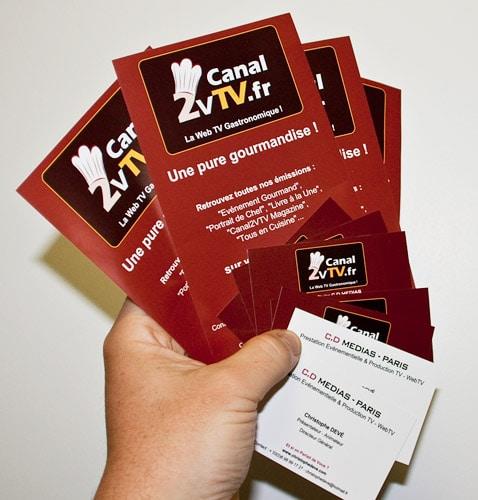 Cartes De Visite Et Flyers Canal2VTVfr