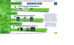 Refonte du site Domotek, avant