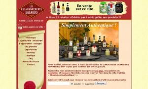 Refonte du site Moutarde de Meaux, avant