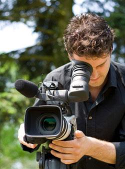 Tournage d'un reportage vidéo