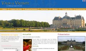 Refonte site Château de Vaux-le-Vicomte, après