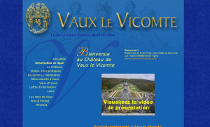 Refonte site Château de Vaux-le-Vicomte, avant
